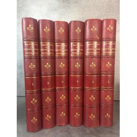 Malte Brun Geographie universelle cinquième édition. Jolies reliures , quelques gravures...