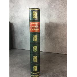 Bossakiewicz Histoire Générale de Saint Etienne 1905 Forez Charbon Mines Loire Papier Luxe N°171 Régionalisme