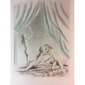 Dialogues des Courtisanes Gravures de Dan Sigros Erotica curiosa illustré moderne petit tirage numéroté.