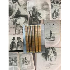 Balzac Oeuvres, deuxieme édition illustré de 1867 chez Michel Levy, Bertall, Daumier, Stall, Monnier, Meissonnier Caricature