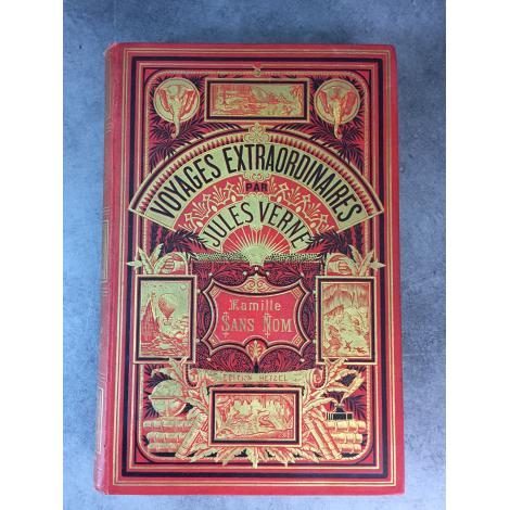 Hetzel Jules Verne Famille sans nom Edition originale cartonnage aux deux éléphants titre corrigé 1889 Voyages extraordinaire