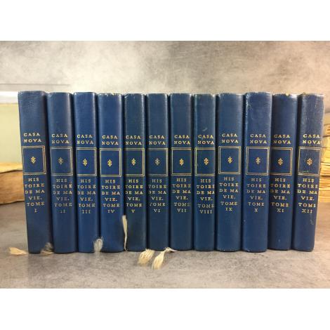 Casanova histoire de ma vie 12 volumes Collection privilège numéroté pleine reliure éditeur