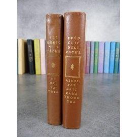 Nietzsche Frédéric Le gai savoir et ainsi parlait Zarathoustra Collection privilège numéroté pleine reliure éditeur