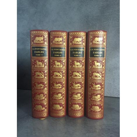 Jean de Bonnot La Fontaine Fables 4 volumes superbes 1969 collector
