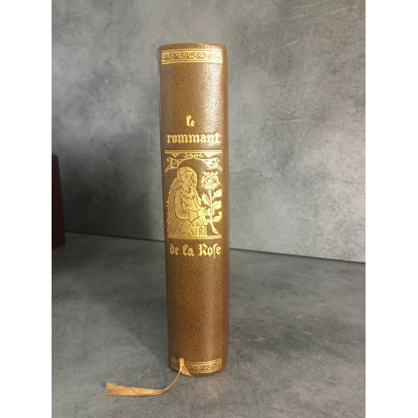 Jean de Bonnot Le rommant de la rose Facsimilé édition 1538 reliure cuir bibliophilie