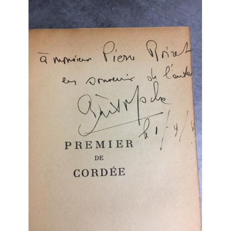 Frison Roche Premier de Cordée Février 1942 Dédicace de l'auteur