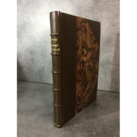 Longus Daphnis et Chloé Maroquin signé de Aussourd. Beau livre de bibliophilie Piazza sur papier japon. 1925