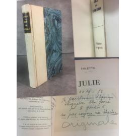Colette Julie de Carneilhan Edition originale sur papier alfa Fayard 1941 bien relié couvertures et dos conservés