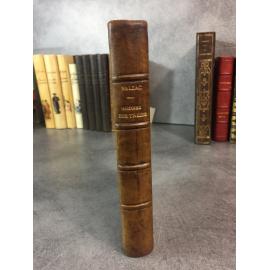 Balzac Honoré de Histoire des treize Calmann Levy 1892 reliure de l'époque en cuir .