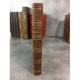 Balzac Honoré de Beatrix Librairie Nouvelle 1856 reliure cuir de l'époque .