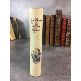 Balzac Honoré de Le père Goriot Paris Lemerre reliure vélin décoré bon exemplaire