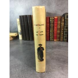 Balzac Honoré de Le curé de Tours, Pierrette Paris Garnier reliure vélin décoré bon exemplaire Allem