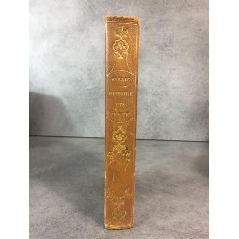 Balzac Honoré de Histoire des treize Paris Charpentier 1840 Edition partie originale reliure du temps bon exemplaire
