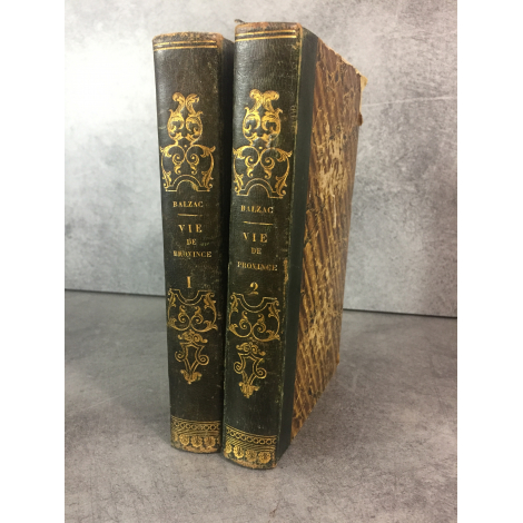 Balzac Honoré de Scènes de la Vie de province illustre Gaudissart, illusions perdues Charpentier 1839 Edition partie originale