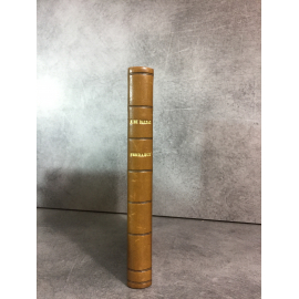 Balzac Honoré de Histoire des treize Ferragus Bossard 1926 Numeroté sur pur fil. Relié cuir