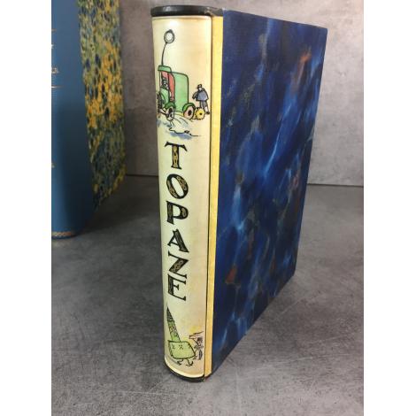 Dubout Topaze illustré moderne désopilant jolie reliure vélin décoré sous emboitage