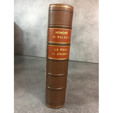 Balzac Honoré de La peau de Chagrin Maître du livre Crès 1923 numéroté reliure cuir .