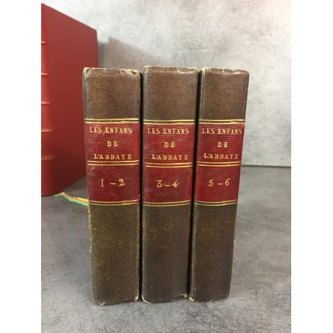 Régina Maria-Roche Les enfans de l'abbaye 2eme édition française complète des 6 frontispices .