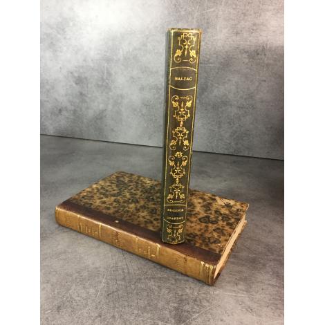 Balzac Honoré de Eugénie Grandet Paris Charles Béchet 1834 Edition originale reliure romantique, cartonnée in fine .