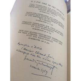 Balzac Hertenberger Le colonel Chabert Bibliophile exemplaire d'Artiste dédicacé par illustrateur reliure