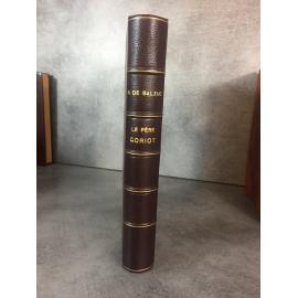 Balzac Le père Goriot Tallandier le 89 des 100 pur fil lafuma seul grand papier illustrations romantiques reliure cuir