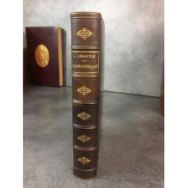 Jules Lemaitre Chateaubriand Paris Calman Levy 1912 première édition reliure cuir chagrin Saint Malo .