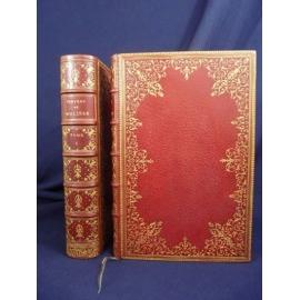 Molière, enrichi de portraits et gravures et plein maroquin dentelle à l'oiseau Belz Niédrée