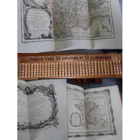 Velly Villaret Garnier Histoire France avec ses tables son atlas et Clovis