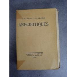 Apollinaire Guillaume Anecdotiques Un des 10 hors commerce sur rive Edition originale non coupé