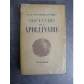 Apollinaire Guillaume Anecdotiques Edition originale sur papier courant
