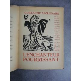 Apollinaire Guillaume Derain L'enchanteur pourrissant 1921 livre mythique bois De Derain