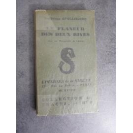 Apollinaire Guillaume Le flâneur des deux rives La sirène 1918 Edition originale Tracts N°2
