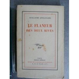 Apollinaire Guillaume Le flâneur des deux rives Gallimard 1928 mention fictive 7eme
