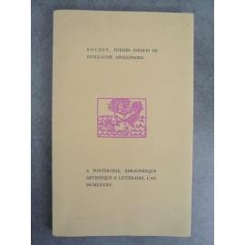 Apollinaire Guillaume Soldes poèmes inédits de Edition originale Fontfroide bibliothèque artistique