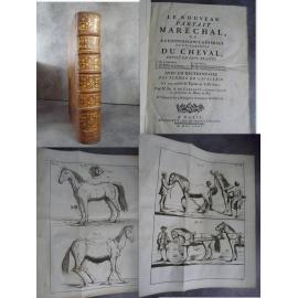 GARSAULT Le Nouveau Parfait Maréchal Cheval Chevaux Hippiatrique art vétérinaire dressage Haras 1771