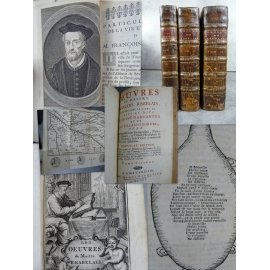 Rabelais François Oeuvres de Maitre faits et dits du Geant Gargantua et de son fils Pantagruel 1711