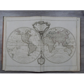 Robert de Vaugondy Atlas grand in folio cartes 76 x 56 cm complet Découverte cook Louis la brocante