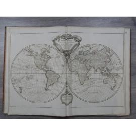 Robert de Vaugondy Atlas grand in folio cartes 76 x 56 cm complet Découverte cook Louis la brocante