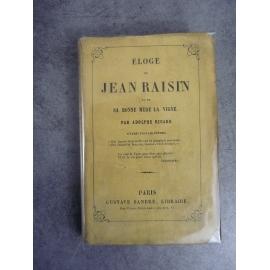 Eloge de Jean Raisin et de sa bonne mère la vigne par A.Ricard