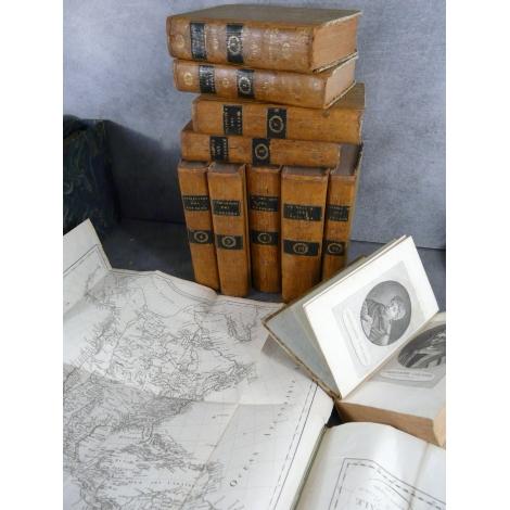 Atlas de BANCAREL (F). et Collection abrégée des Voyages anciens et modernes