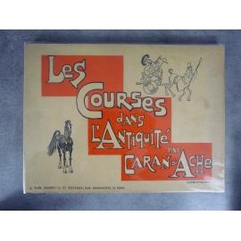 Caran d Ache Les courses dans l'antiquité Caricature humouu ALbum dessin