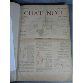 Le Chat noir BD Steinlen Paris de nuit caricature humour 98 numéros