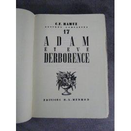 CF Ramuz Adam et Eve Derborence numéroté sur vergé chiffon bel exemplaire année 1941