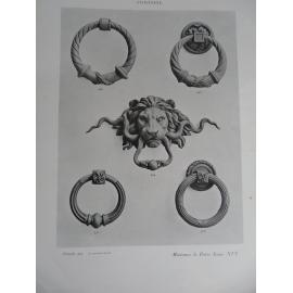 Fontaine et compagnie Serrurerie décorative catalogue important 530 planches par styles et objets.