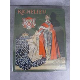 Cahu Richelieu illustré par Maurice Leloir dans un grand cartonnage superbe reliure de Lecat Cartier