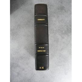 Herriot Edouard La vie de Beethoven Gallimard 1929 numéroté sur alfa demi maroquin à bandes