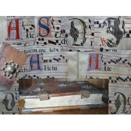 Bibliophilie, Entièrement calligraphié grand Antiphonaire Ibérique Reliure de l'époque sur forts ais de bois Géant Musique