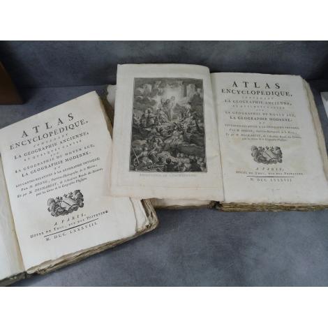 Bonne Desmarest Atlas Encyclopédique contenant la géographie ancienne et moderne Hotel de Thou 1787-1788 140 cartes gravées