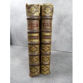 Prestet Nouveaux Elemens des mathématiques ou principes généraux de toutes les sciences. 1689 Rare Cartésianisme Descartes