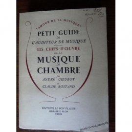 MUSIQUE DE CHAMBRE COEUROY ROSTAND